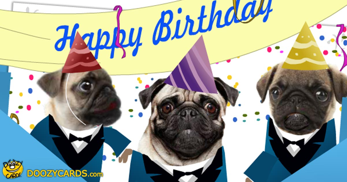 Birthday Ecards Dogs Singing ~ Singing pugs birthday ecard view the popular