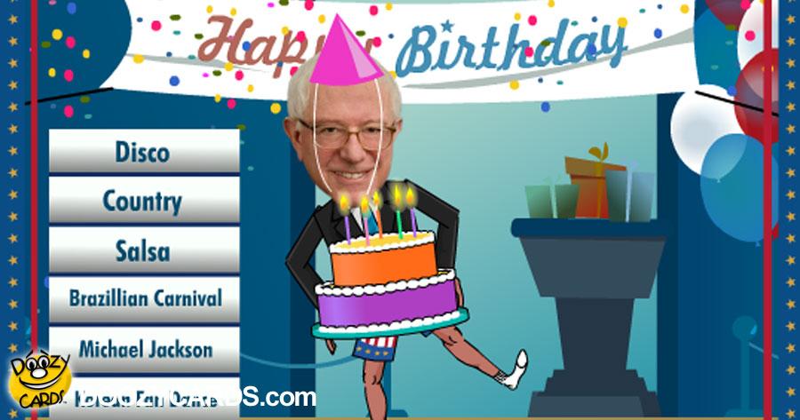 Bernie Sanders Ecards Bernie Sanders Birthday Card